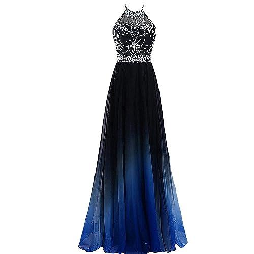 Blue Ombre Dress Prom: Amazon.com