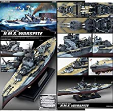 Academy Hobby Model Kits Scale Model : Battle Ships & Aircraft Carrier Kits (1/350 H.M.S. WARSPITE)
