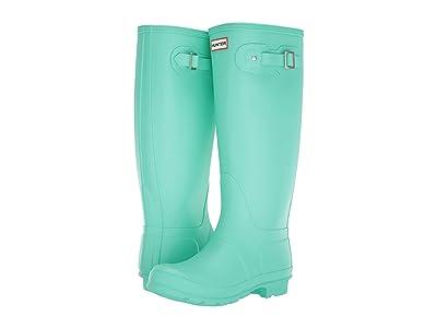 Hunter Original Tall Wide Leg Rain Boots (Ocean Swell) Women