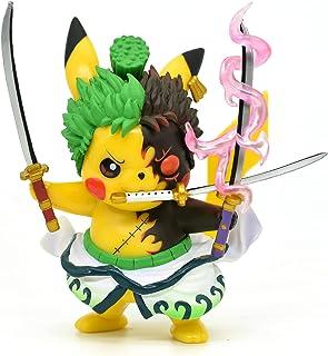 """Pikachu Cosplay Roronoa Zoro Figura de acción Estatuas GK Colección Regalos de cumpleaños PVC 4"""""""