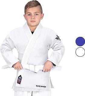 Elite Sports Deluxe Kids Uniform IJF Judo Gi w/Preshrunk Fabric & Free Belt