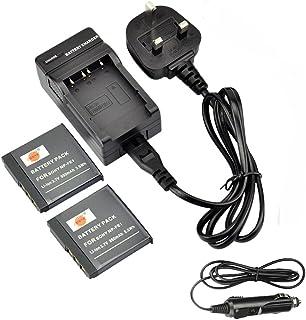 2 piezas NP-FE1 DSTE recargable de litio-ión batería + cargador DC02U para Sony Cyber-shot DSC-T7 Cyber-shot DSC-T7/B Cyber-shot DSC-T7/S cámaras digitales