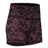 Generies Short de sport pour femme, jupe, short de yoga résistant à la transpiration, taille haute en coton doux pour fitness, yoga, yoga L Impression couleur.