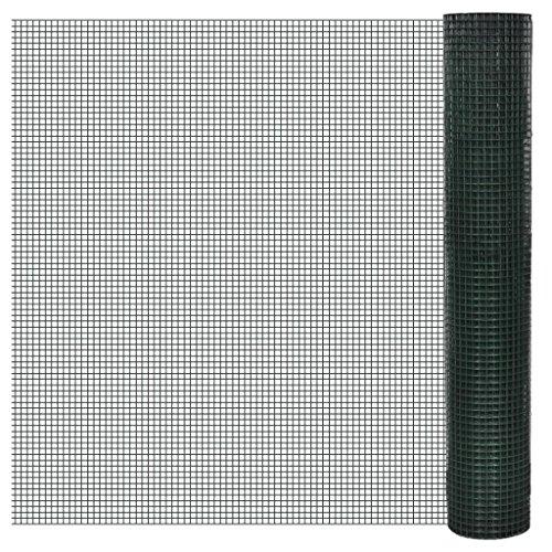 vidaXL 1m x 25m Drahtgitter Maschendraht 4-Eck Volierendraht 12x12mm Maschenmaße