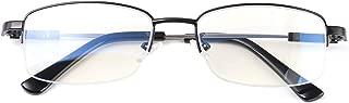 Alsenor Progressive Multifocal Reading Glasses Blue Light Blocking Reader Glasses Frame (Black, 4.0 x)