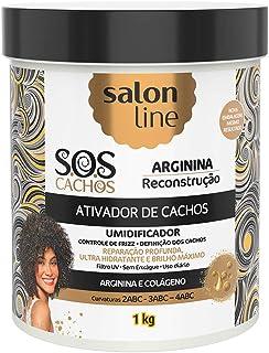 Ativador de Cachos S.O.S Cachos Reconstrução Arginina 1kg, Salon Line