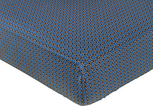 PiP Spannbettlaken Latika Perkal dunkelblau Größe 90x200 cm