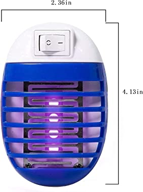 2 Pcs Bug Zapper Electric Fly Pests Trap Indoor, Mosquito LED Light for Patio, Bedroom, Kitchen, Office Electronic Insect Kil
