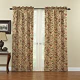 WAVERLY Curtains for Bedroom - Imperial Dress 42' x 84' Decorative Single Panel Rod Pocket Window Treatment Privacy Curtains for Living Room, Antique