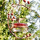 Freafre - Hummingbird Feeder, Handmade Bird Feeder with Vine Perch and Red Berries for Outdoors, Squirrel Proof Bird Feeders, Hanging Hummingbird Feeder for Yard Garden, Easy to Clean and Fill