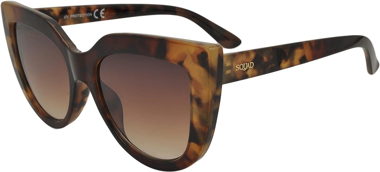 SQUAD Gafas de sol Mujer Ojos de gato cateye Clásico Vintage Fashion Pasta Cómoda 100% protección UV400