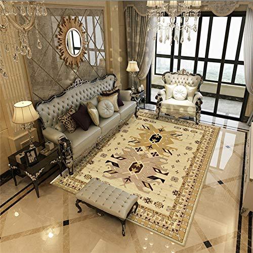 Simmia Home Alfombra de salón Tradicional Estilo Caqui marroquí Estilo Boho Rugs...