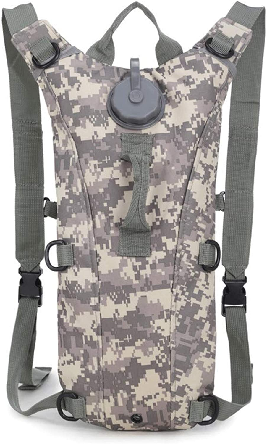 YMJJ Outdoor Camping Rucksack, 3L Camouflage Rucksack Outdoor Wasser Tasche Rucksack Kombination,ACUCamo