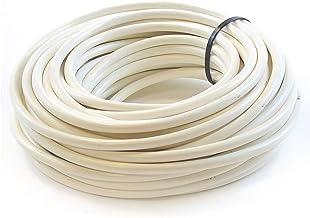 Ali's DIY 3 aderige ronde witte flex flexibele kabel volledige rol en aangepaste gesneden lengtes beschikbaar