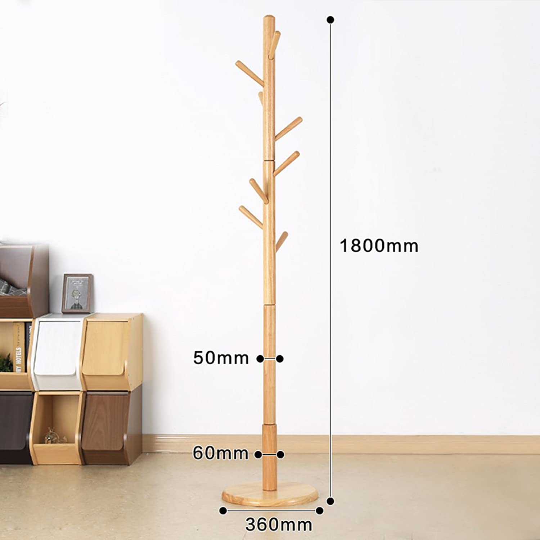 Coat Rack Coat Stand Rack Solid Wood Environmental Simple Modern Assembly Living Room Creative Racks (color   B)