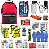 Ready America 72 Hour Deluxe Emergency Kit, 2-Person 3-Day Backpack,First Aid Kit,Survival Blanket, Power Station,Multi Tool,Portable Go-Bag for Earthquake,Fire, Flood,Camping, Hiking, and Hunting,Clear,70285