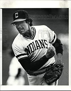 1984 Press Photo Ernie Camacho rejoices in victory against the KC Royals