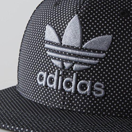 adidas Men's Originals Snapback Flat Brim Cap, Black/Grey, One Size