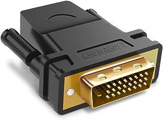 UGREEN HDMI DVI 変換アダプタ オス-メス DVI-D 24+1 双方向伝送 1080P 金メッキ (DVI-D 24+1)