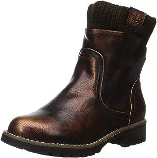 Muk Luks Women's Bobbi Boots Fashion, Copper/Brown, 7 M US