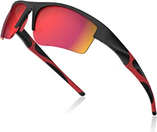 Avoalre Polarized Sports Sunglasses, UV 400 Protection Sports Glasses for Men/Women with Durable Lightweight Frame, Perfect for Driving Cycling Fishing Running Baseball & All Outdoor Actives