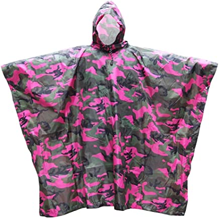 AXIANQI Rainproof Poncho Camouflage Hooded Loose Poncho Multifunction Floor Awning Suitable For Outdoor Activities A (Size   B)