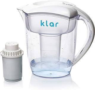 Carafe Filtrante 3,5 l – Filtre Eau qui Élimine le Fluorure, le Plomb, les Microplastiques - Carafe Filtrante Eau pH Alcal...