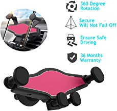Maksut Car Phone Holder - Gravity Linkage Mobile Phone Holder Auto Lock 360° Rotation Universal Air Vent Car Cradle Phone Mount for iPhone 11 pro max/X/ 8/7/ 6 Samsung S10 S9 HTC Sony and Others