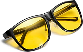 Myiaur Night Vision Glasses for Driving Unbreakable Yellow Polarized Lens Anti-glare Cloudy/Rainy/Foggy/Nighttime