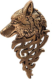 MIXIA Vintage Wolf Head Lapel Brooch Pin Badge Jewelry for Women Men Animal Brooches Jewelry