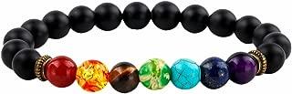 Beads Bracelets for Men and Women, Semi Precious Stone Yoga Beads Chakra Bracelet