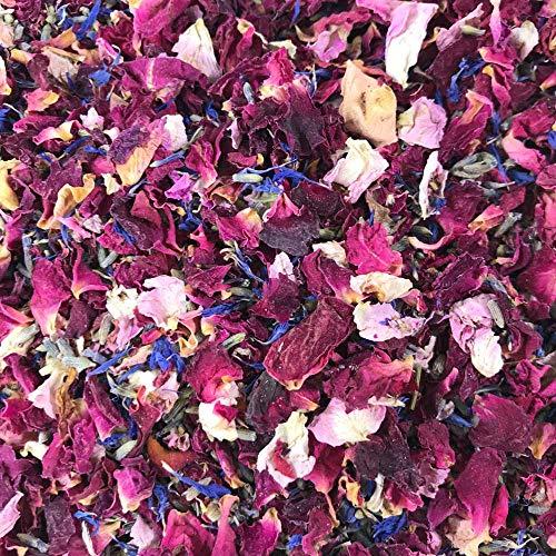 1 litro de confeti de pétalo natural - Biodegradable - Muchos colores, tipos y opciones de mezcla disponible.