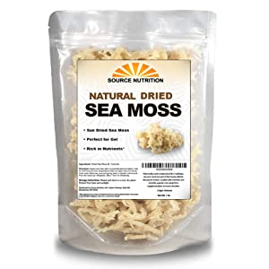 1 lb Wild Crafted Raw Sea Moss - Perfect for Gel & Smoothies, Clean Ocean Harvest, Hand Picked & Sun Dried - Bulk Irish Moss Superfood