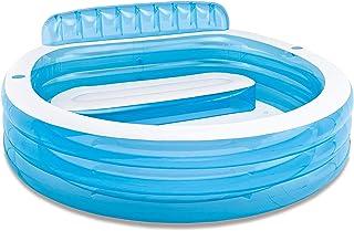 WUAZ Swim Center Pool Familia con Los Asientos, Espesado Piscina Inflable, 224 X 216 X Los 76CM
