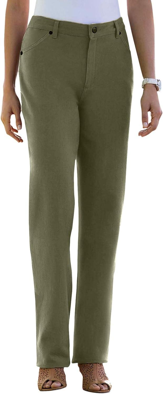 Jessica London Women's Plus Size Classic Cotton Denim Straight Jeans 100% Cotton