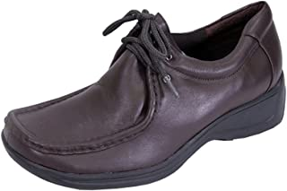 22abb2c0bb2 24 Hour Comfort Kris Women Wide Width Classic Elegant Durable Cushioned  Leather Lace Up Shoes
