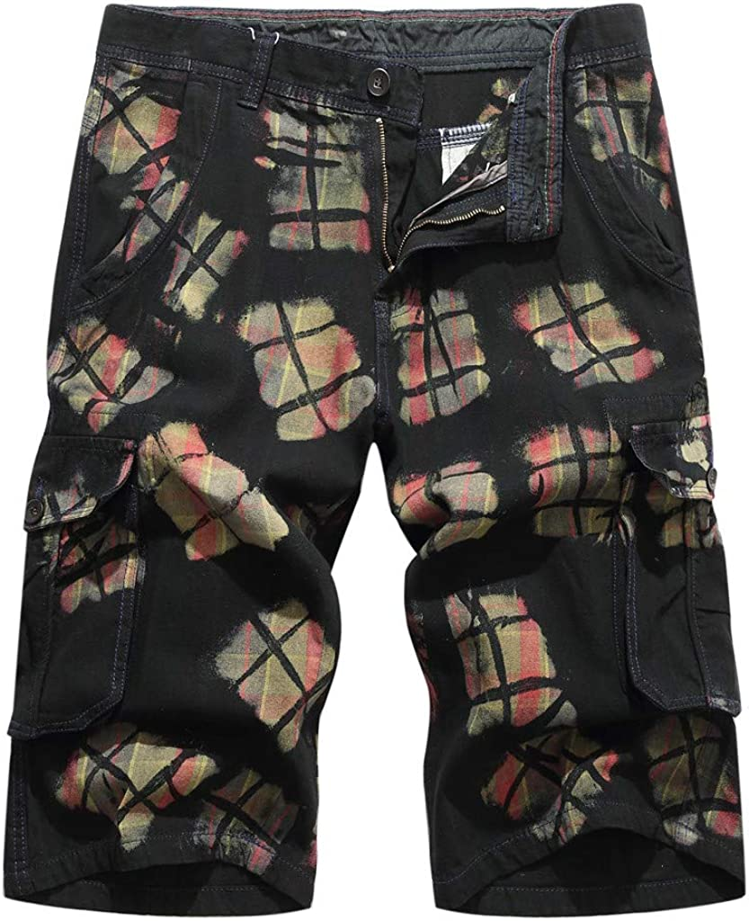 MODOQO Men's Cargo Shorts,Outdoor Casual Camouflage Multi-Pocket Relaxed Fit Shorts
