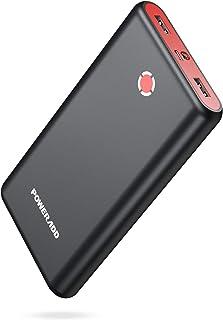 モバイルバッテリー 20000mAh Poweradd Pilot X7 超大容量 スマホ充電器 2USBポート 二台同時急速充電 PSE認証済 iPhone/iPad/Android各種対応 (ブラック+レッド)