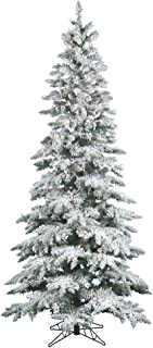 Vickerman 65' Flocked Slim Utica Fir Artificial Christmas Tree with 300 Warm White LED Lights
