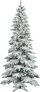 Vickerman 75' Flocked Slim Utica Fir Artificial Christmas Tree with 400 Warm White LED Lights
