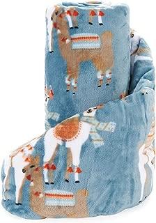 Super Soft Boho Llama Plush Throw Blanket Cozy Micro-Fleece 50