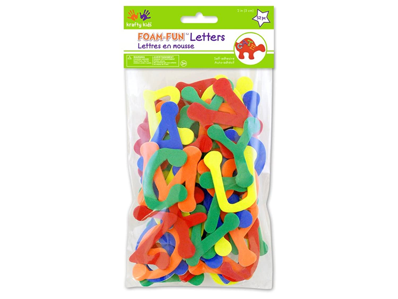 Krafty Kids Foam-Fun Letters Self-Stick