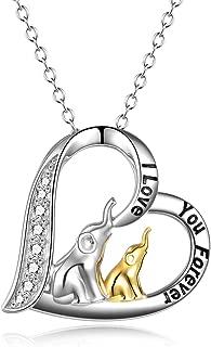 Lucky Elephant Tree of Life/Koala/Unicorn/Owl/Wolf/Penguin/Panda Pendant Necklace Animal Necklace Jewelry Gifts for Mom Woman Men