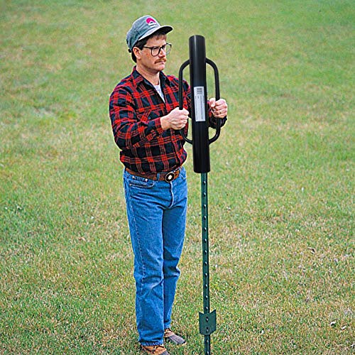 MTB Fence Post Driver with Handle, 12LB Black. Your Best Garden Partner