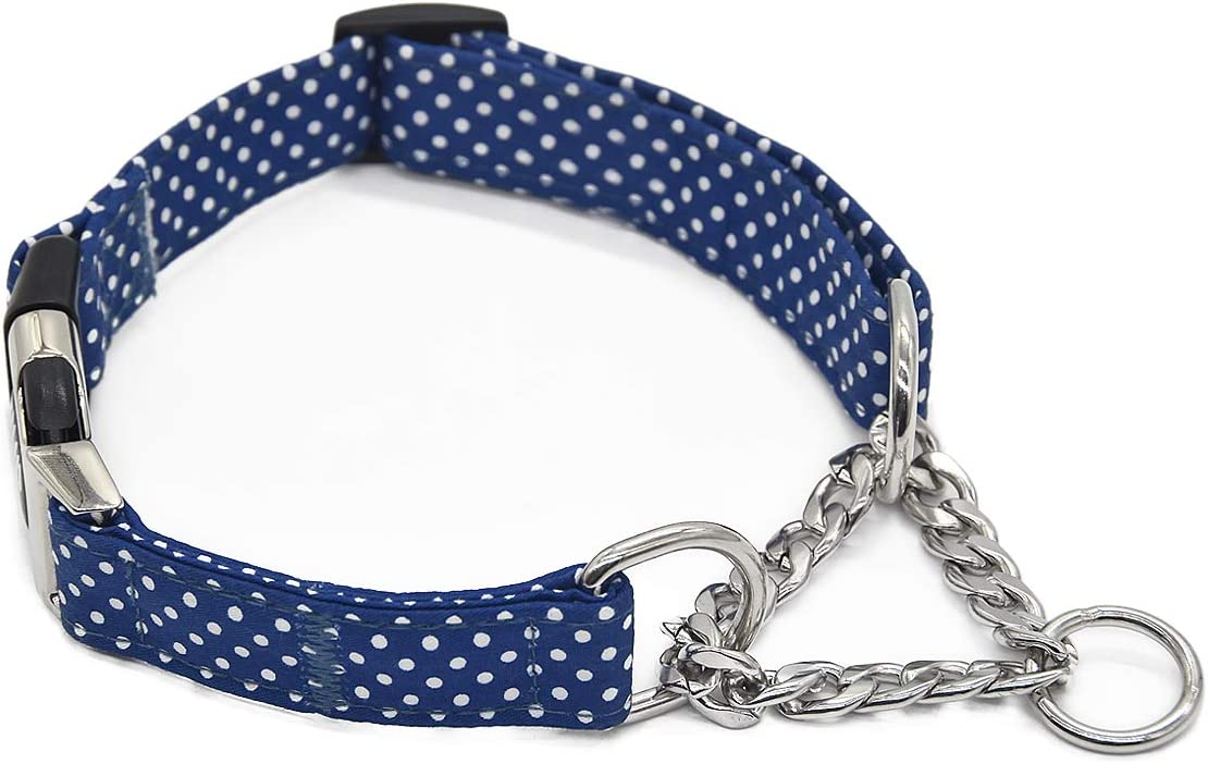 Fourhorse Stainless Over item handling Steel Chain National uniform free shipping Martingale C Dog Collar Training