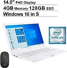 2020 ASUS ImagineBook 14 Inch FHD 1080P Laptop| Intel Core m3-8100Y up to 3.4GHz| 4GB LPDDR4 RAM| 128GB SSD| WiFi| Bluetooth| HDMI| Windows 10 S + NexiGo Wireless Mouse Bundle