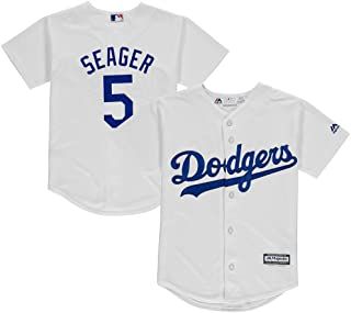 Corey Seager Los Angeles Dodgers Cool Base White Youth Replica Jersey Small 8