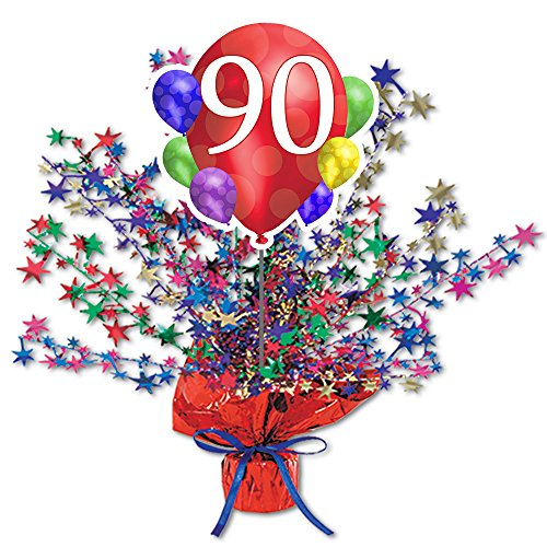90th Birthday Balloon Blast Centerpiece by Partypro