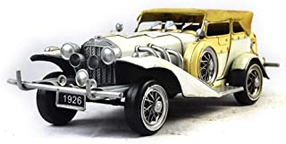 msk Classic Cars Models Crafts Decoration Tinplate Car Photography Props Simple Home Perfect Retro Adornment  The Best Gift for Boy White Sword