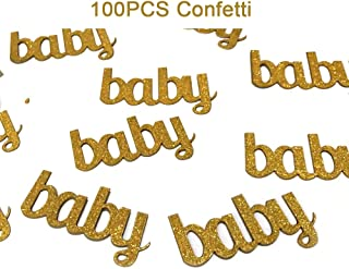 Woparty Litter Gold Baby Confetti Paper Table Confetti for Baby Showers Birthday Party Decorations Pack of 100